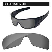 Papaviva Black Chrome Mirror Polarized Replacement Lenses For Batwolf Sunglasses Frame 100% UVA & UVB Protection(China)