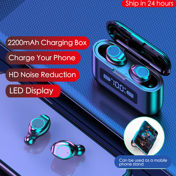 Willkey F9 TWS Bluetooth 5 0 słuchawki słuchawki bezprzewodowe sterowanie dotykowe radio Hifi sport Gaming zestaw słuchawkowy z mikrofonem do telefonów tanie i dobre opinie Dynamiczny Prawda bezprzewodowe 32dB Do Gier Wideo Wspólna Słuchawkowe Dla Telefonu komórkowego Słuchawki HiFi Typ linii
