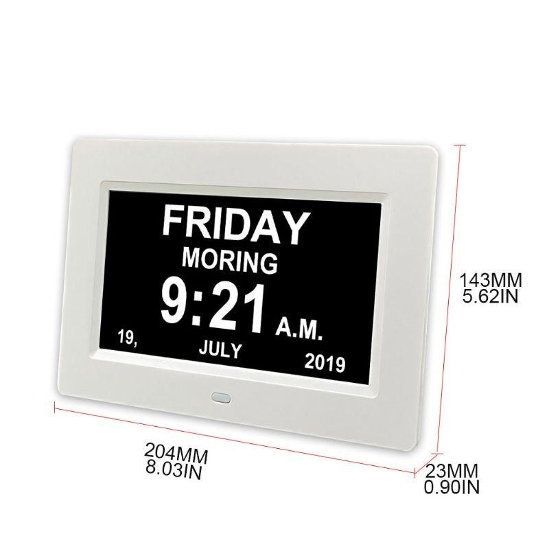 7 дюймовый цифровой календарь часов с датой напоминания о дне для пожилых людей и детей N1HF Будильники      АлиЭкспресс