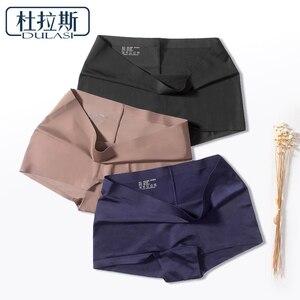 DULASI Silk Seamless Women Panties Sexy Shorts Underwear Intimates Briefs Girls Low Rise Lingerie Amazing Panty Undies 3 pcs/set(China)
