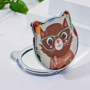 Image 3 - Vicney 2019 New Fashion Cat Element Cute Cartoon Double Side Mirror Pocket Mirror Girls Mini Make Up Mirror Beauty Mirror