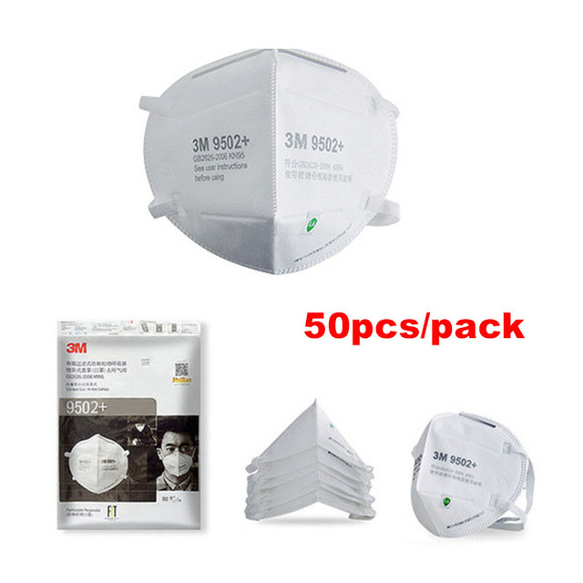 3M 9501+ Particulate Mascarilla Dust Mask Anti-haze 9502+ Protective  Filter Mouth  Mask 9501 9502 3M Original Authentic Mask 2