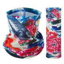Шарф для ловли со льдом Buffe, волшебная маска для езды на лице, Солнцезащитная шапка, дышащий нагрудник, маска с капюшоном, покрытие для ушей