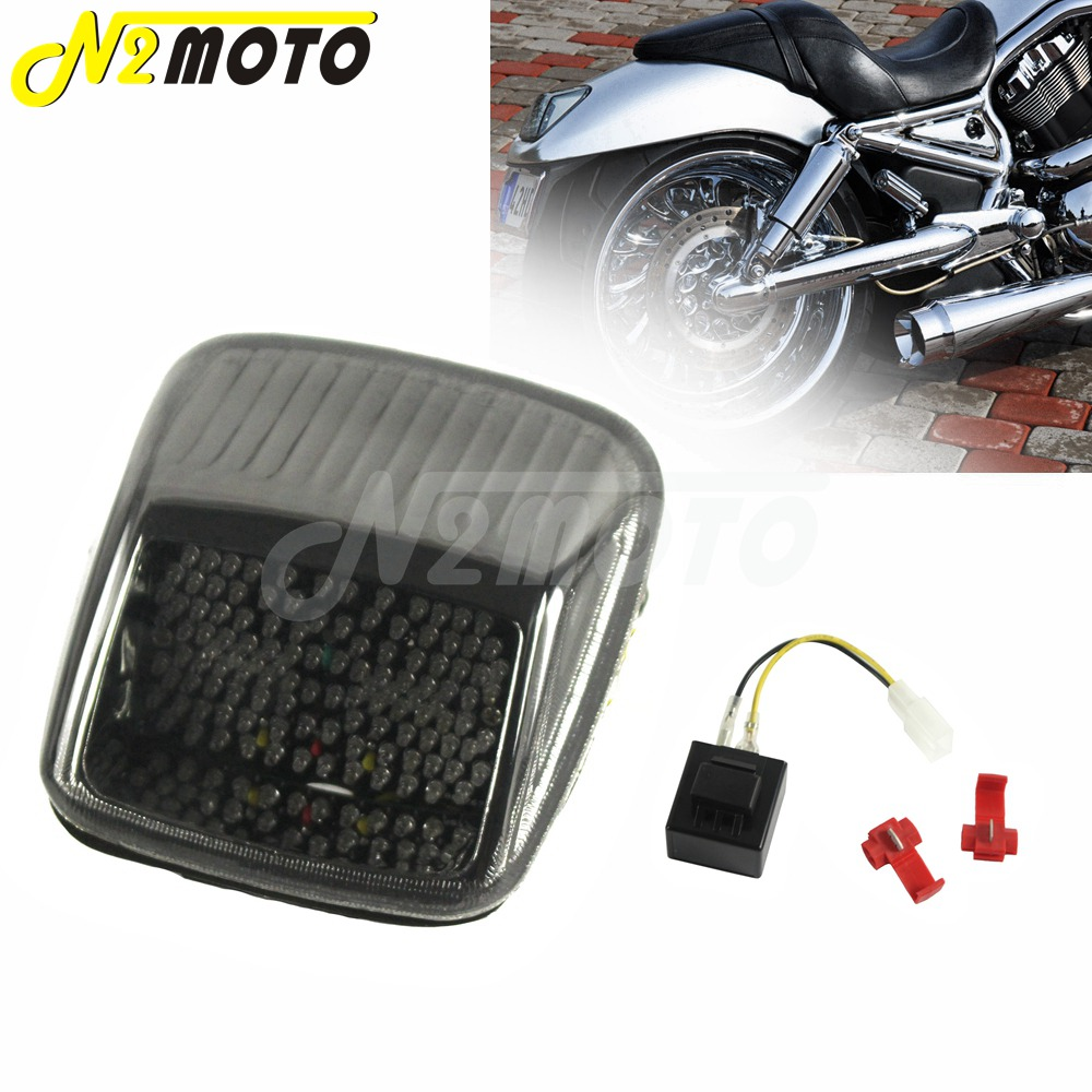 Turn Signals For Harley V-ROD Night Rod Street Rod 2002-2011 Smoke Areyourshop Taillight
