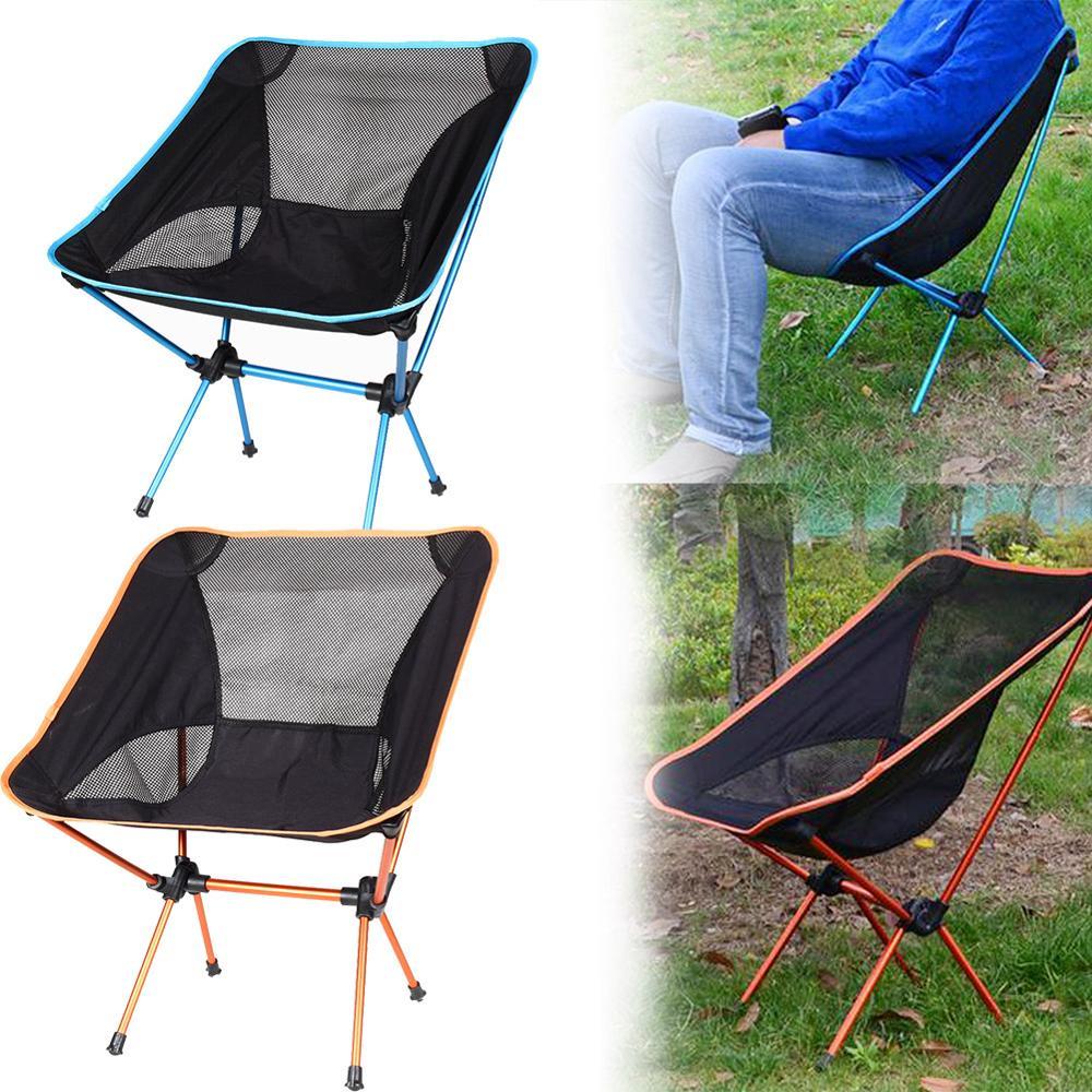 Cadeira de praia dobrável ao ar livre portátil cadeira de acampamento assento fezes pesca acampamento caminhadas praia piquenique churrasco cadeiras jardim|Cadeiras de praia| |  - title=