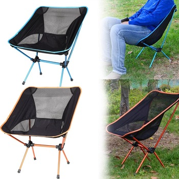 Folding Beach Chair Outdoor Portable Camping Seat Stool Fishing Hiking Picnic Barbecue Garden Chairs - discount item  28% OFF Outdoor Furniture