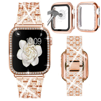 Correa para Apple watch 6 se 5 4 42mm 38mm, correa de acero inoxidable para iwatch 5 4, accesorios de pulsera de 44mm 40mm