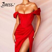 INDRESSME модное женское Бандажное вечерние для вечеринок, сексуальное платье на бретельках с глубоким v-образным вырезом, мини-платье с открытой спиной, Осеннее женское платье Femme Vestidos, новинка года