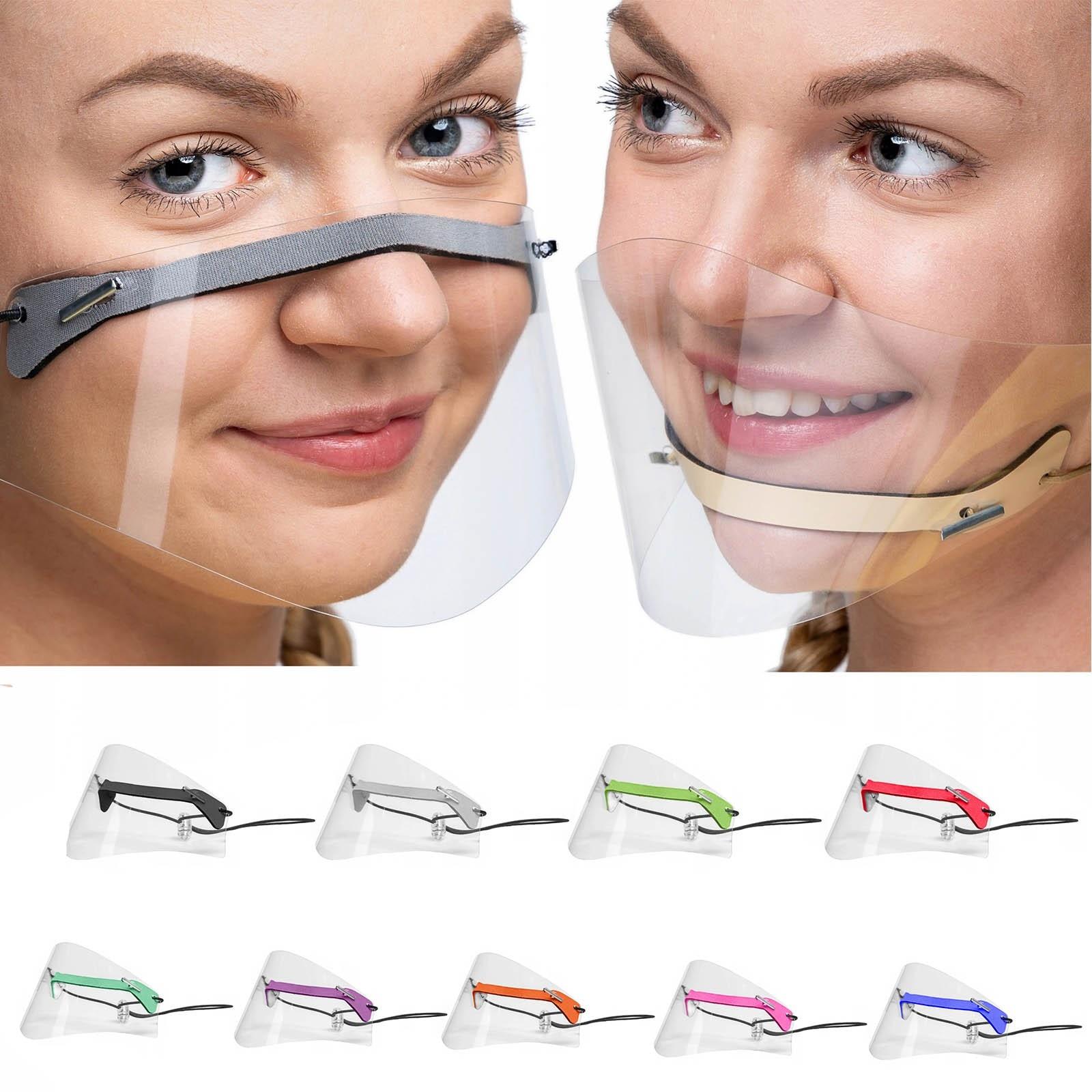 1pc Mascarillas Face Mask Fashion Adult Mini Shield Washable Reusable Mouth Mask Transparent Pvc Visual Mask Mouth Caps Washable Top Watermelons