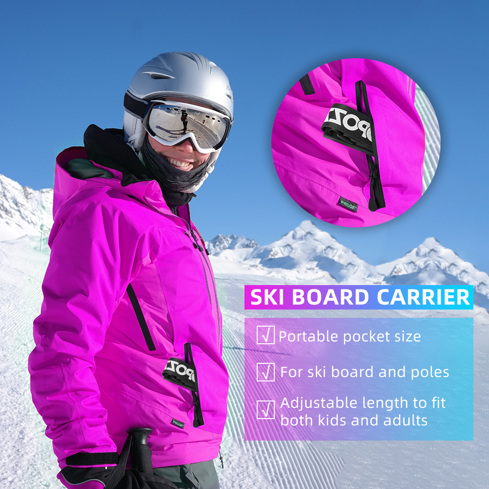 Simply Wrap Skis and Poles into One Unit Skiweb Ski /& Pole Carrier Strap Hands Free Vertical Over Shoulder Carrier for Skis and Poles Leaving Your Hands Free