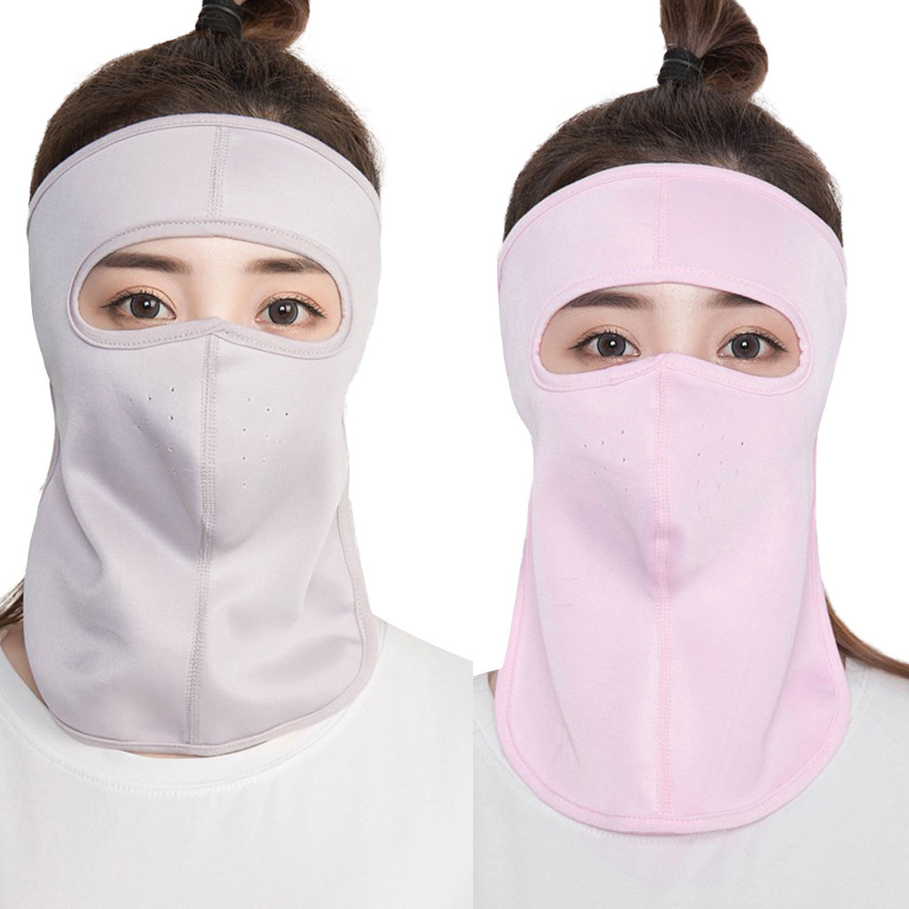 Full Face Mask 2 Pieces Unisex Face Mask Sun Protective Face Cover Women UV Protection Mask D90816