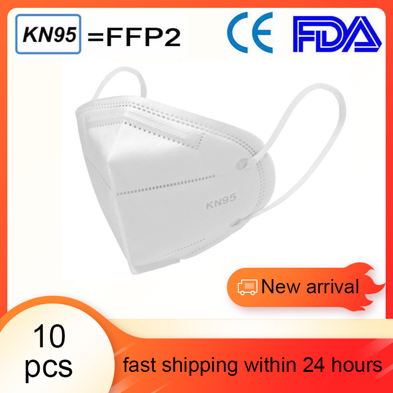 10 Pcs  FFP3 KN95 Masks Folding Anti-fog Dust Mask PM 2.5 Mouth Mask For Men And Women Mask FFP2 95% Filtration Respirator
