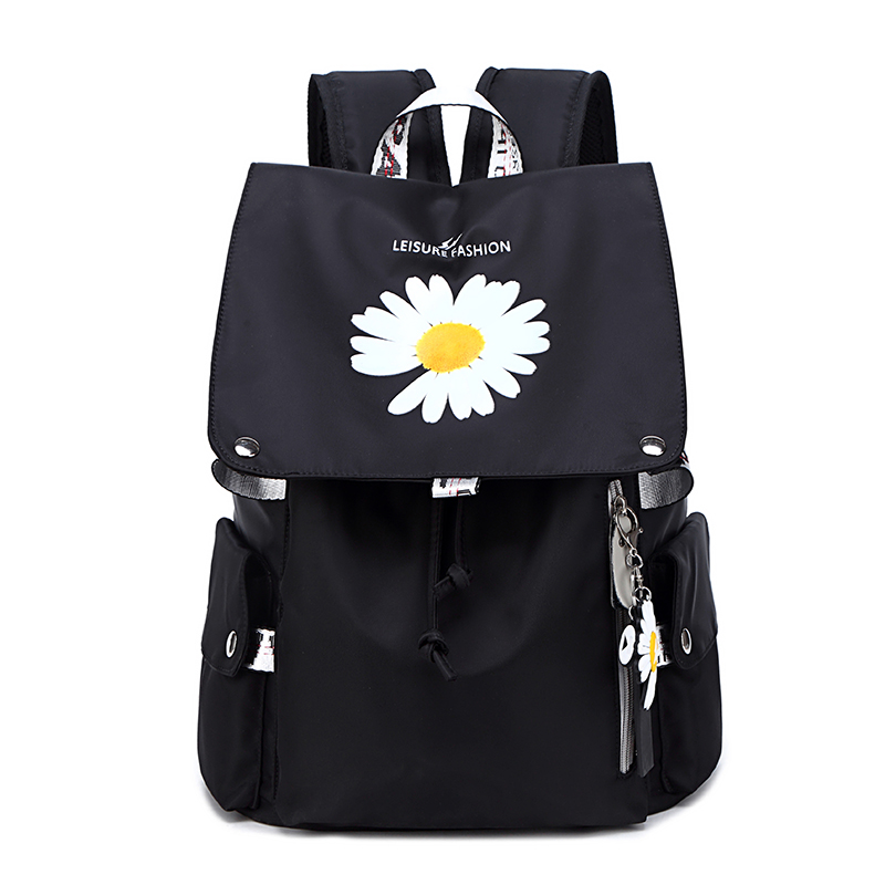 Female College Teenage Laptop Backpack Fashion Leisure Waterproof Bagpack Floral Prints Girls Casual Computer School Bag 14 Inch