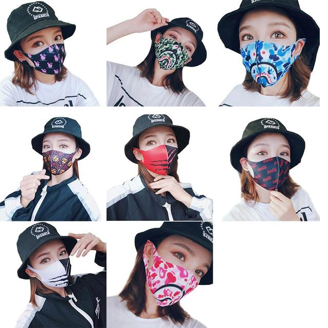 Painted Cotton Mouth Mask Anti Dust Fog Washable Breathable Personalized Mouth-Muffle Bacteria Proof Flu Face Masks For Riding 1