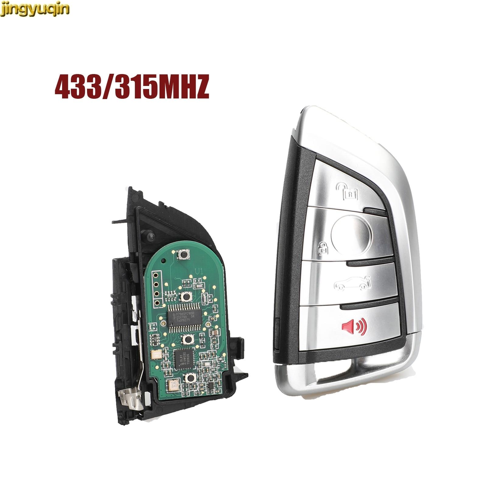 Jingyuqin 4 Button Modified Smart Remote Key Fob 315MHz/ 434MHz 7953P For BMW CAS4 CAS1 2 3 4 5 6 7 X5 X6 CAS4+ FEM 2011-2017