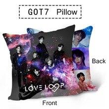 GOT7 альбом любовь петля фото двухсторонняя печать автомобильное кресло подушка вечерние подушки подарок JB JinYoung Jackson BAMBAM LJJ23