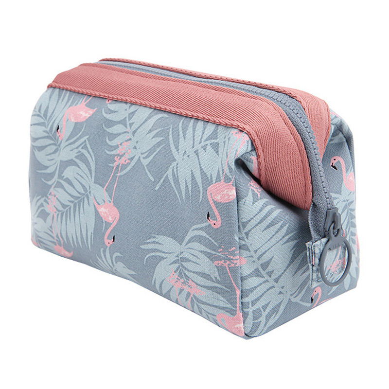 Women Travel Animal Flamingo Make Up Bags Girl Cosmetic Bag Makeup Bea