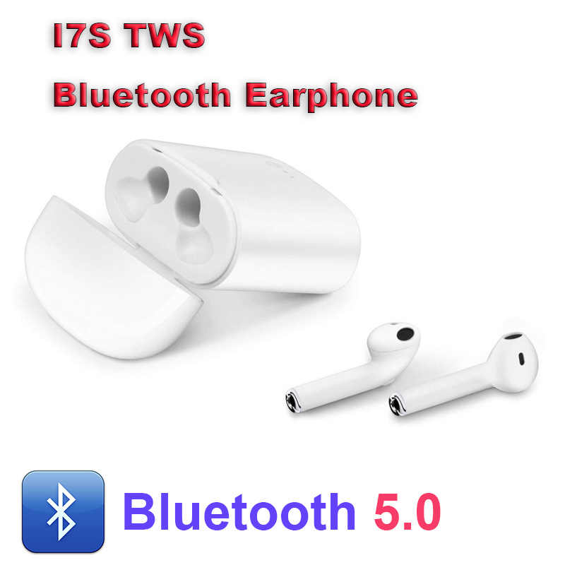 Natal Hadiah Baru I7s Tws Nirkabel Earphone Bluetooth 5.0 Earbud Nirkabel Headphone Mendukung Android IOS Sistem