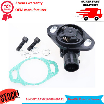 цена на 16400P0AA50 16400P06A11 New TPS Front Throttle Position Sensor 911753 for Honda Accord Civic CR-V CRX Prelude Acura Integra