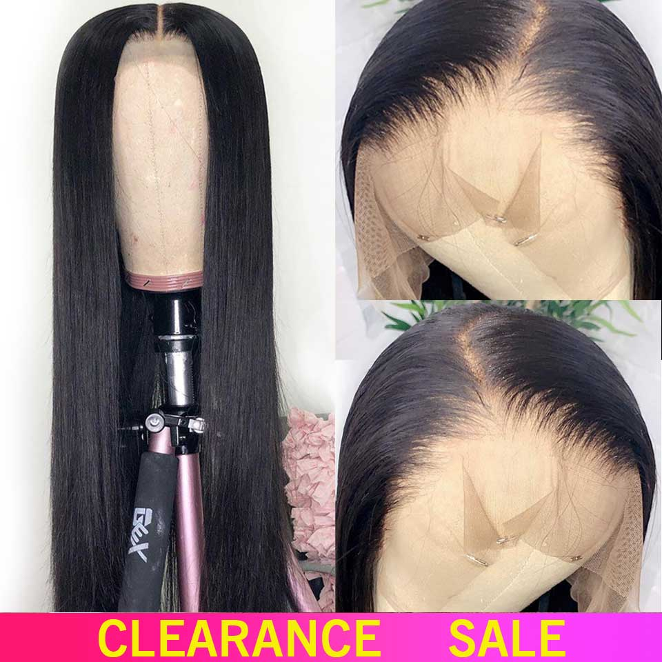 13x4 Lace Front Human Hair Wigs 150% Free Part Brazilian Straight Lace Front Wigs With Baby Hair For Black Women Non-Remy