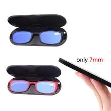 Presbyopic Glasses Anti-Blue-Light Pocket-Reading Uv-Protection Magnetic-Case Women Portable