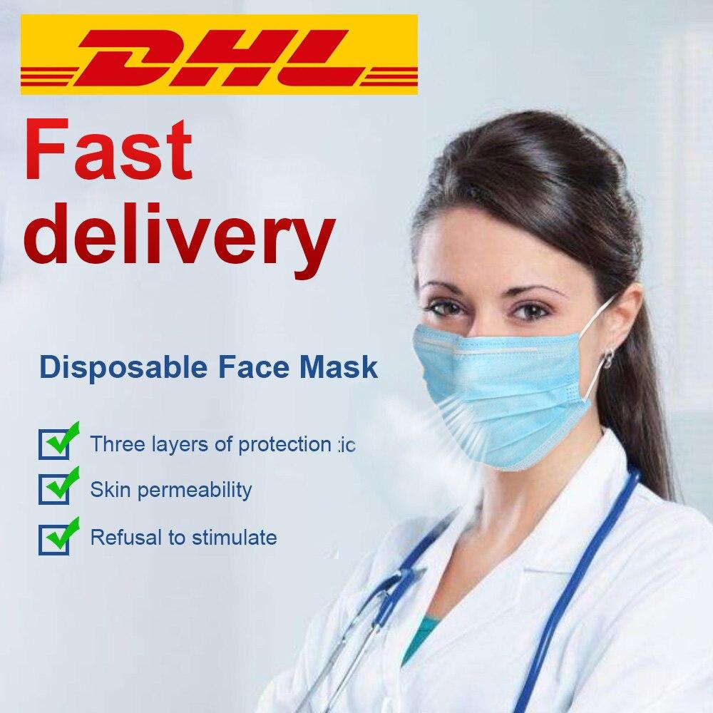 50 pièces de Masque de Protection & Jetables Anti-poussière - Bouche - Nez - Contre le Coronavirus 1