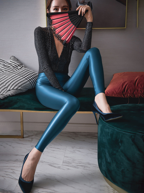 Shiny Spandex Pantyhose/Leggings 3