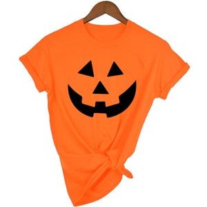 Women Graphic Pumpkin Shirt Ha
