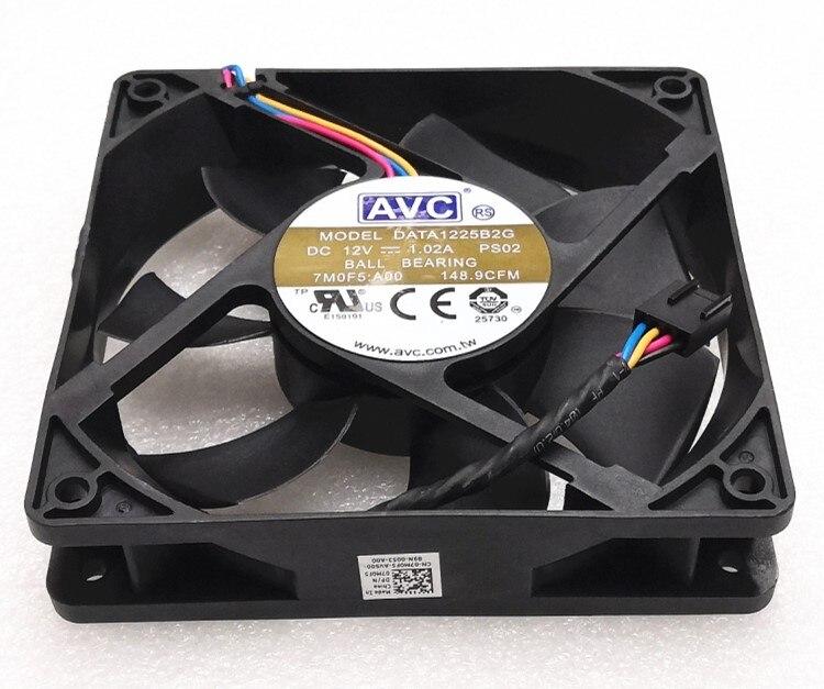 for AVC DS08025T12U P224 8025 8CM 12V 0.70A 4-Wire Ball Fan