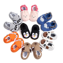 Casual Baby Boys Girls Shoes Soft Sole Cartoon Animal Style