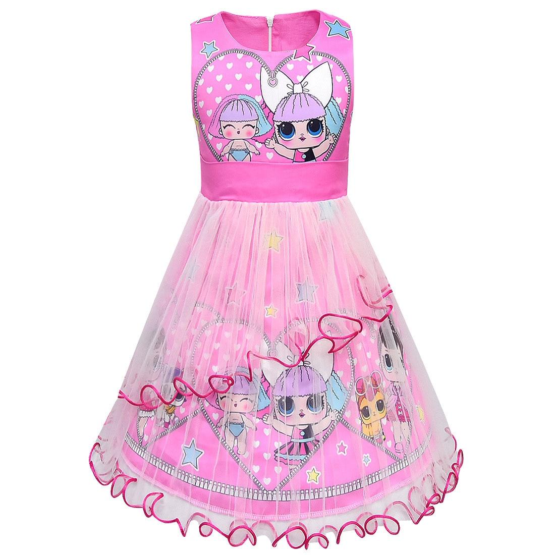LOL Original Surprise Dolls Figure Girls Lol Dolls Dress Cute Kids Party Dresses Kids Elegant Girl Lol Surprise Figures Party