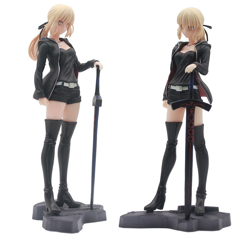 Fate Grand 24cm Altria Pendragon saber Fate stay night PVC Action Figures toys collectible model Toy For Kids childrenAction & Toy Figures   -