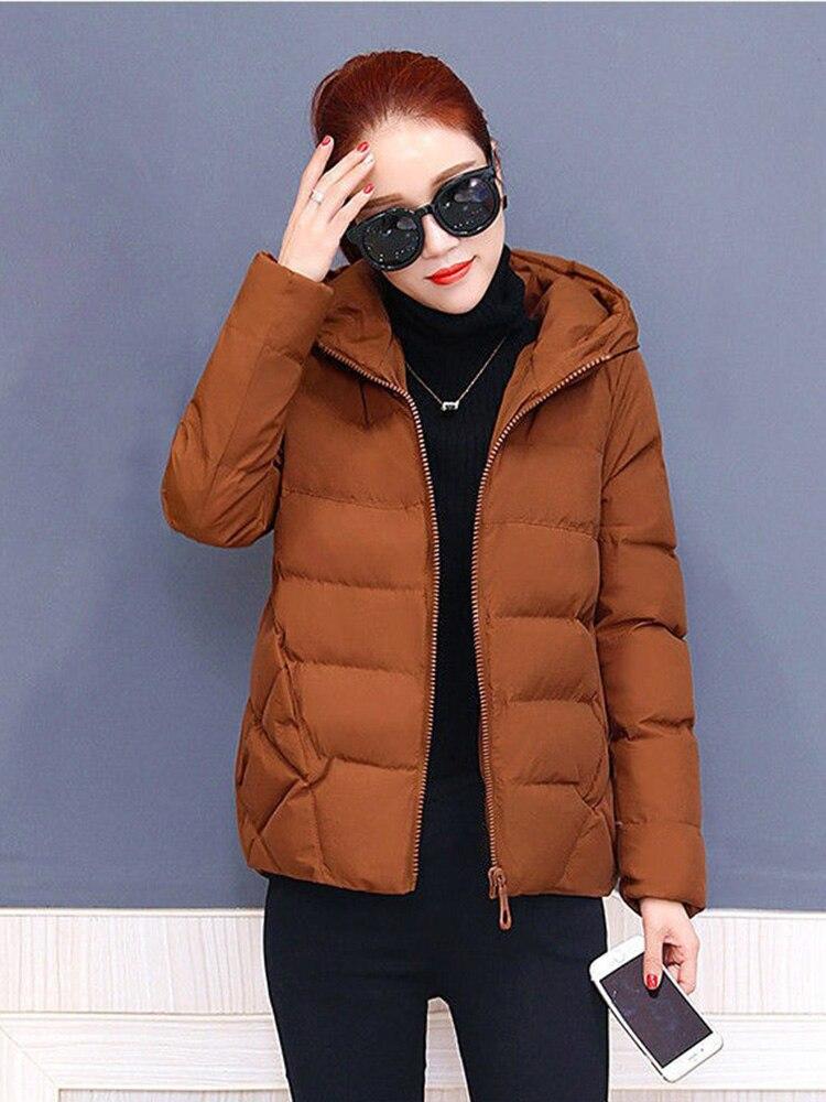 Plus size women winter jacket cotton loose short parkas women outwear designer warm hooded female coat jaqueta feminina DR1192 (1)