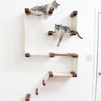 цена на Fort Cat Tree Park Cat House Tower Climbing Frame Pet Furniture