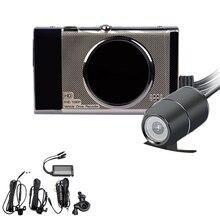 3 дюймов мотоцикл DVR Sprint Камера Full Hd 1080 P/720 P ЖК дисплей двойной Камера переднее и заднее зеркало заднего вида Водонепроницаемый Камера Gps G-Sens