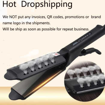 Flat Hair Straightener Hair Iron Four-Gear For Women Professional Widen Paneltourmaline Ionic Curling Iron Ceramic Dry Wet Fit