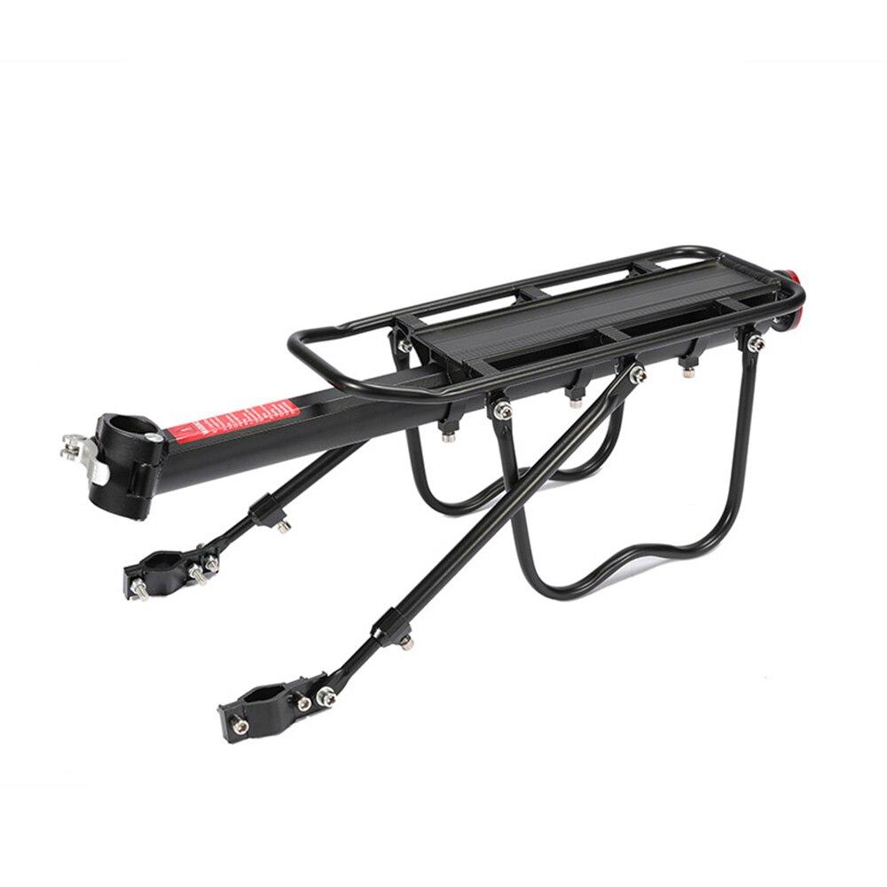 Mala de bagagem de bicicleta, suporte de bagagem de bicicleta portador de bicicleta ajustável 2020 2 fortes na perna transportadora de carga suporte de montagem
