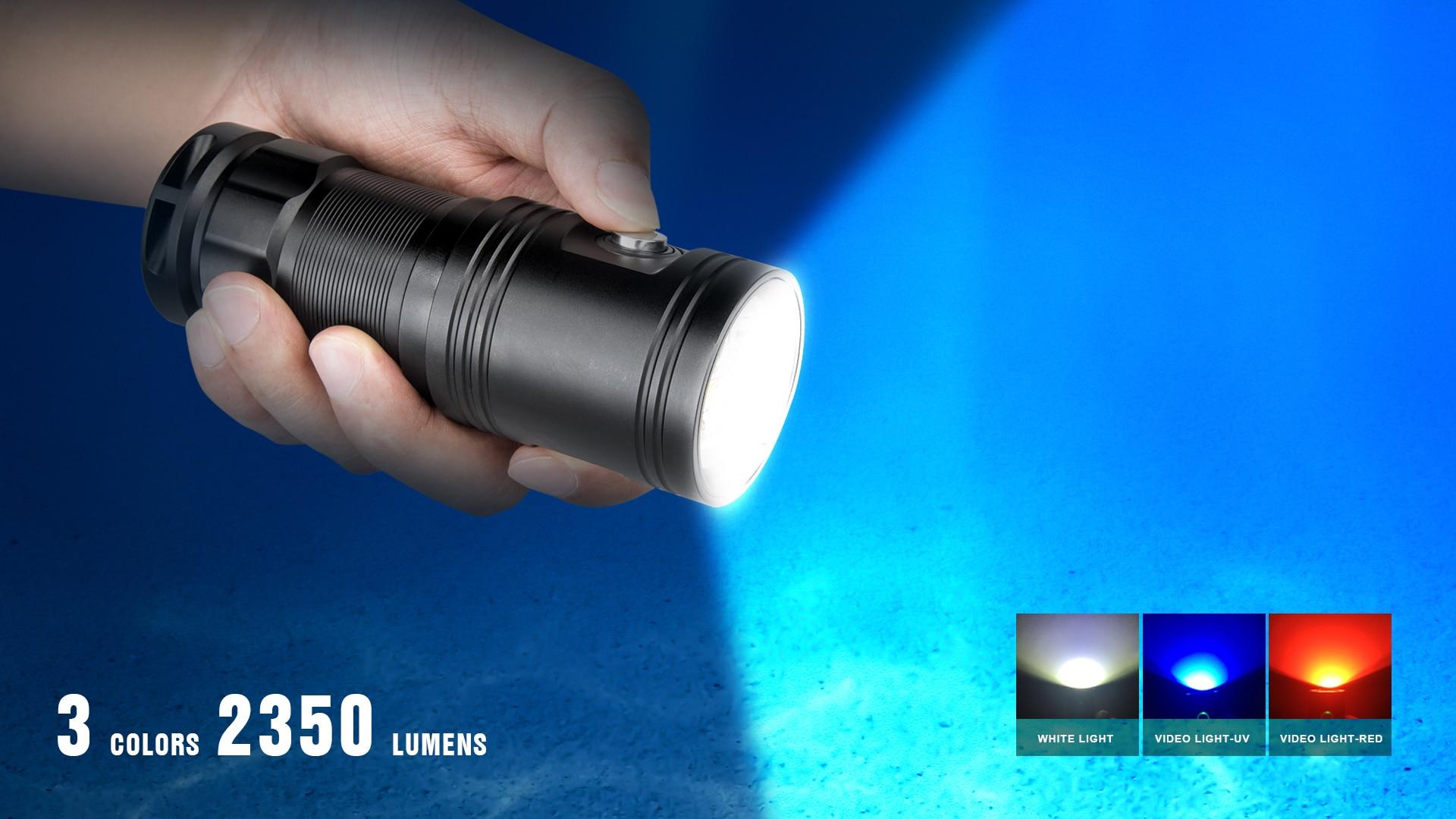 led 4 cores foto vídeo lâmpada subaquática