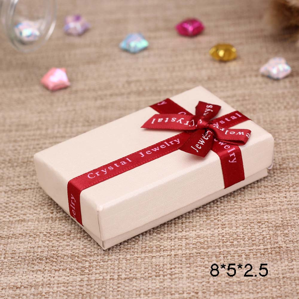New 5pcs Ring Earring Jewelery Bowknot Paper Gifts Package Storage Case Boxes DI
