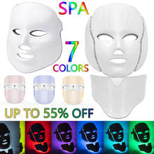 LED Facial Beauty Mask Wrinkle Removal Electric Skincare Device PDT Photon Treatment SPA Ems Tighten Skin Anti Age Acne Machine