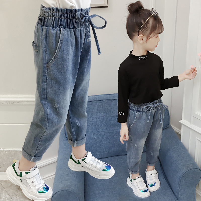 2020 New Fashion Girls Jeans Baby Girl Boutique Clothes Fall Denim Pant Teenagers Long Pants Trousers Kids 2 11years Jeans Aliexpress