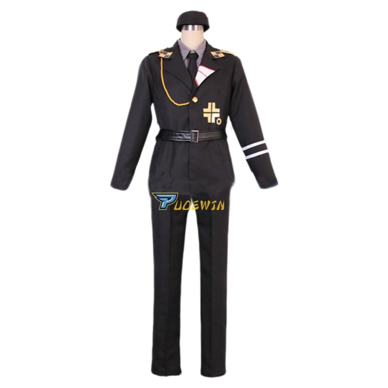 APH Axis Powers Hetalia Prussia SS Uniform Cosplay Costume 7/lot