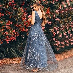Image 2 - Sexy vestidos de baile de sempre muito profundo decote em v sem mangas a linha barato feminino vestidos de festa formal estilo de noche 2020