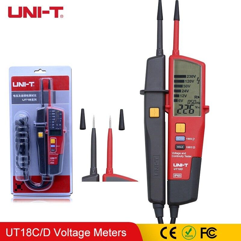 1 pièces UNI-T UT18D UT18A UT18B UT18C tension et continuité testeurs gamme automatique volts détecteurs stylo LED/écran LCD