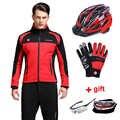 Coupe-vent hommes cyclisme veste imperméable vélo vêtements vtt vélo vêtements à manches longues Jersey ensemble hiver ski thermique vent manteau