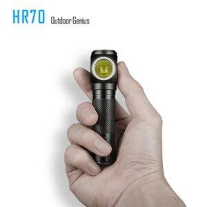 Image 2 - Imalent hr70 led 손전등 cree xhp70. 18650 3000 mah 배터리 + usb 충전 케이블로 헤드 램프 3000lm 충전식 헤드 라이트
