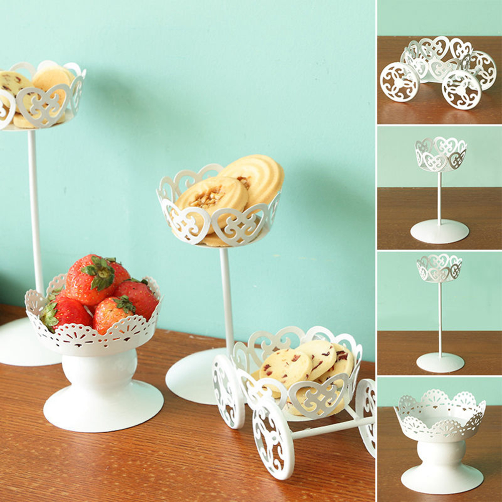 White Color <font><b>Metal</b></font> Wedding Cupcake Stand <font><b>Cake</b></font> Dessert Iron Holder Display Party <font><b>Decor</b></font> GHMY image