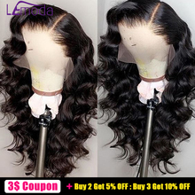 Loose Wave Wig Lace Front Human Hair Wigs Pre Plucked Lemoda Remy Free Part Hair PrePlucked Brazilian 13x4 Lace Frontal Wig цена