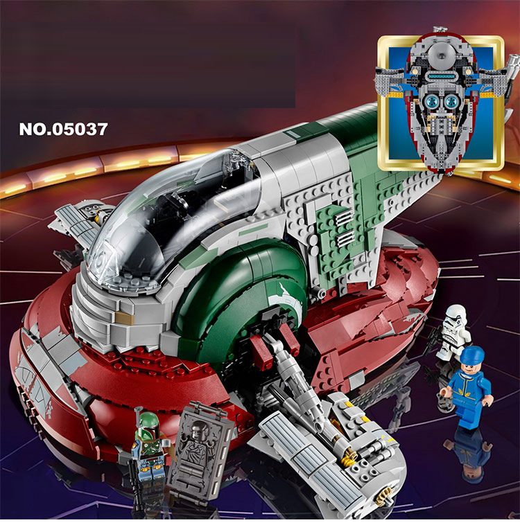 Compatible Lepining <font><b>05037</b></font> The Genuine UCS Slave I Slave NO.1 Mobile 2067Pcs Building Block Bricks Toys Star Wars Movie image