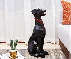 [HHT] скандинавский светильник, роскошное украшение на стол, пол, собака добермана, гостиная, ТВ, шкаф, диван, уголок, домашний декор, геометрич...